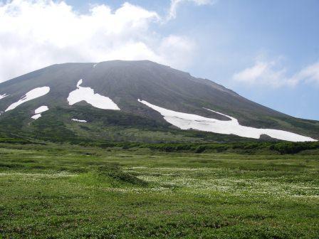 裾合平から見た旭岳北斜面(7月).jpg